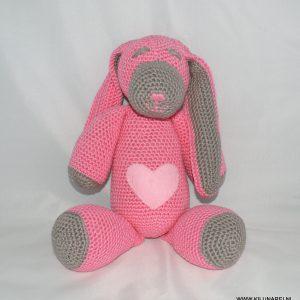 Gehaakte babyknuffel konijn Billy