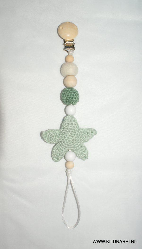 Gehaakt speenkoord met groene ster