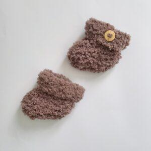 Bruine baby-slofjes (maat 0)