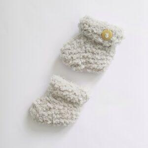 Licht grijze baby-slofjes (maat 0)