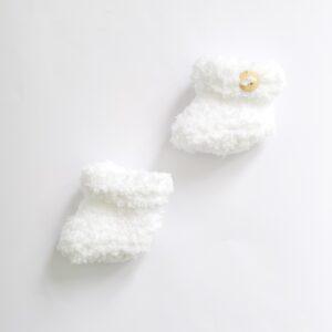 Witte baby-slofjes (maat 0)