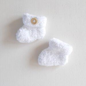 Witte teddy booties (maat 2)