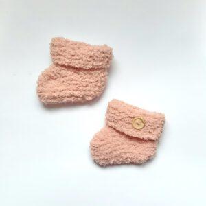 Roze booties maat 2