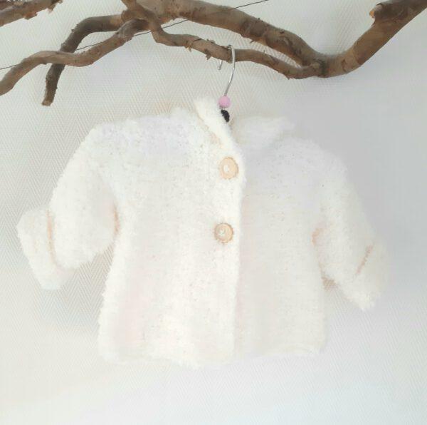Gebroken wit teddy jasje