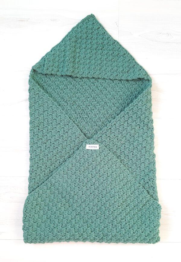 Groene baby-omslagdoek