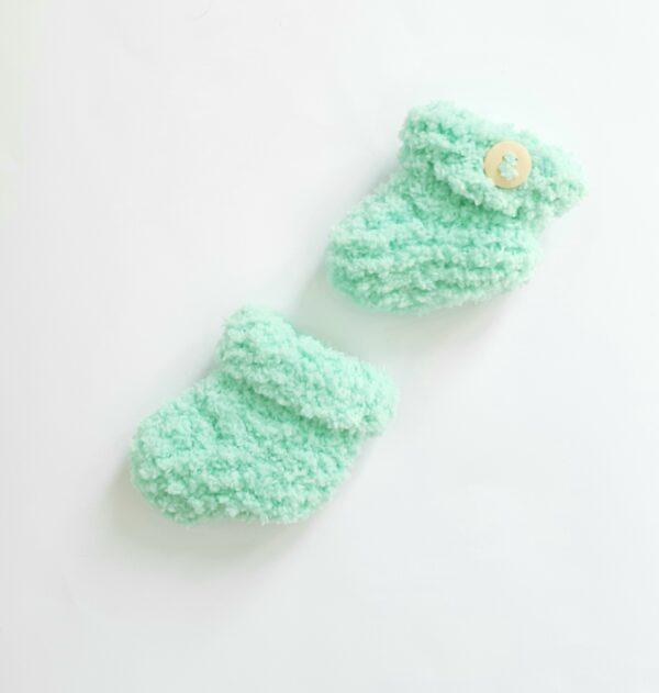 Mintgroene baby-slofjes