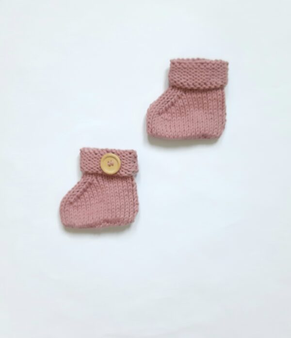 Oudroze baby-slofjes