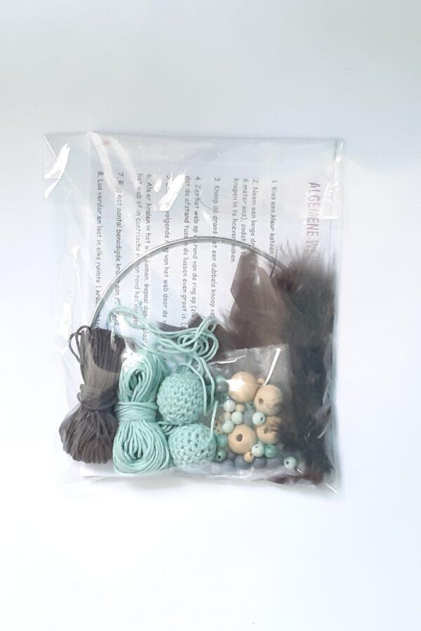 Creapakket donkergrijze-mintgroene