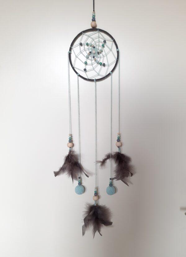 Donkergrijze-mintgroene dromenvanger